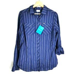 Columbia Camp Henry II Long Sleeve Roll Up Shirt M